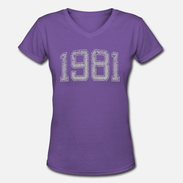 1981 Year 1981 Year Vintage - Women's V-Neck T-Shirt