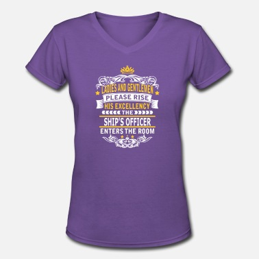 Ship Officer SHIP S OFFICER - Women's V-Neck T-Shirt
