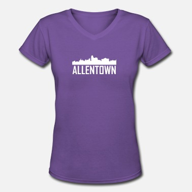 Allentown Pa Allentown Pennsylvania City Skyline - Women's V-Neck T-Shirt