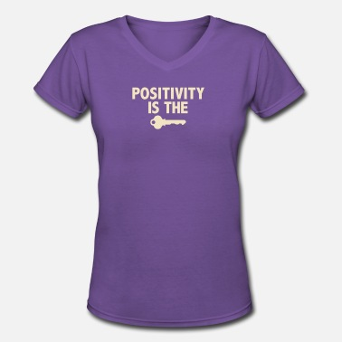 Positively Positivity - Women's V-Neck T-Shirt