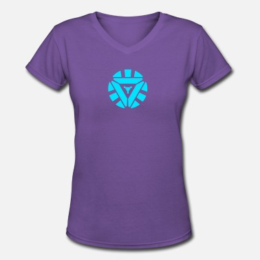 Reactor NEW SPECIAL Arc Reactor Glow In The Dark - Women's V-Neck T-Shirt