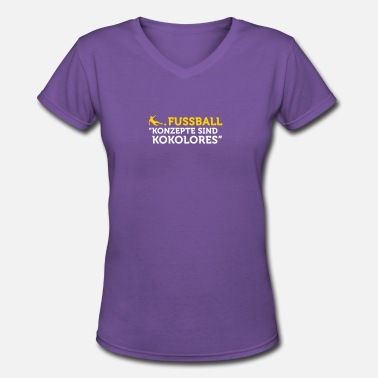 Tosh Football Quotes: Concepts Are Tosh! - Women's V-Neck T-Shirt