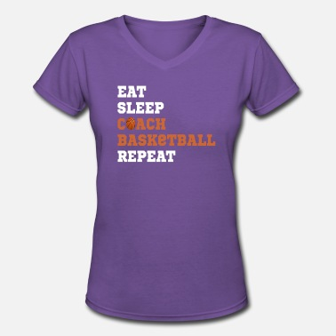 Funny Basketball Coach Basketball Coach Gift for Coaches - Women's V-Neck T-Shirt