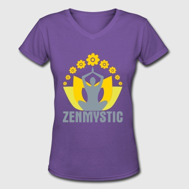 Osho Zen Mystic - Women's V-Neck T-Shirt