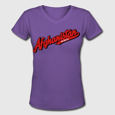 AFGHANISTAN - Women's V-Neck T-Shirt