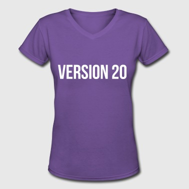 Version 20 - Women's V-Neck T-Shirt