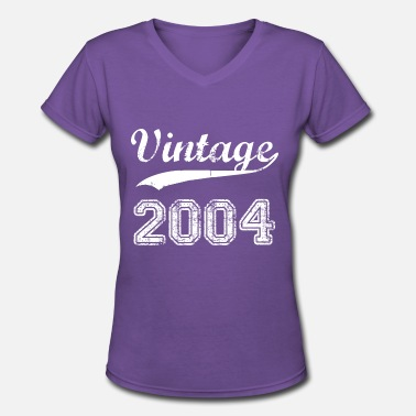 Born-in-2004 2004 - Women's V-Neck T-Shirt