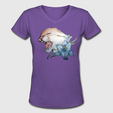panther 2 - Women's V-Neck T-Shirt