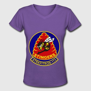 Stinger VFA-133 Stingers - Women's V-Neck T-Shirt