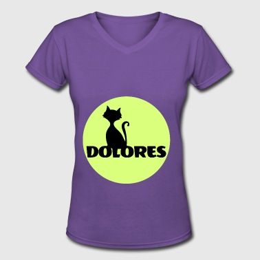 Dolores Dolores first name - Women's V-Neck T-Shirt