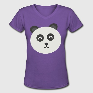 Panda Pete - Women's V-Neck T-Shirt