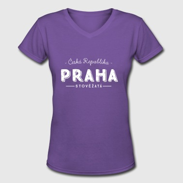 Prague - Women's V-Neck T-Shirt