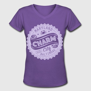 Baltimore City Charm City Baltimore Maryland - Women's V-Neck T-Shirt
