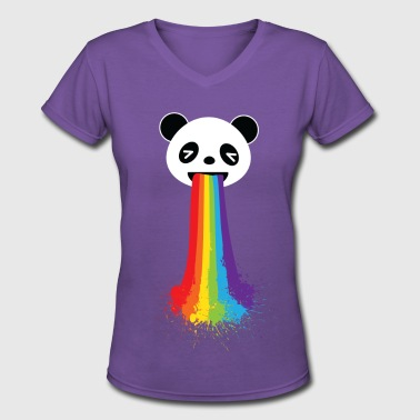 Gay Panda LGBT Pride - Women's V-Neck T-Shirt