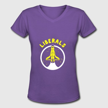 LIBERALS - Women's V-Neck T-Shirt