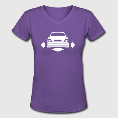 Mercedes Benz W124 - Women's V-Neck T-Shirt