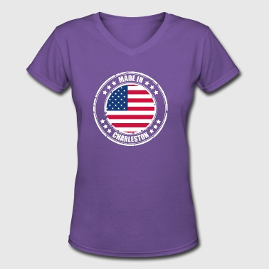 CHARLESTON - Women's V-Neck T-Shirt