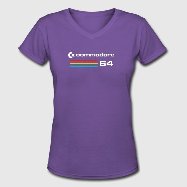 Bit C64 Commodore 64 Retro Computer - Women's V-Neck T-Shirt