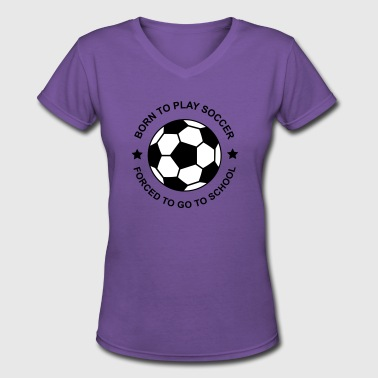 soccer - Women's V-Neck T-Shirt