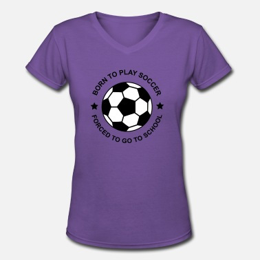 Soccer soccer - Women's V-Neck T-Shirt
