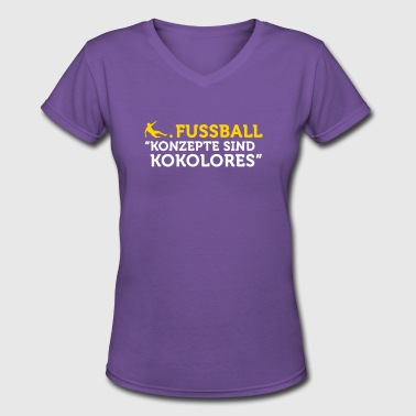 Football Quotes: Concepts Are Tosh! - Women's V-Neck T-Shirt