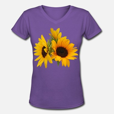 Sunflower Ring of Sunflowers - Women's V-Neck T-Shirt