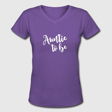 For Aunties Auntie To Be - Women's V-Neck T-Shirt