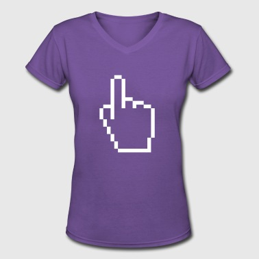 pointing hand - Women's V-Neck T-Shirt