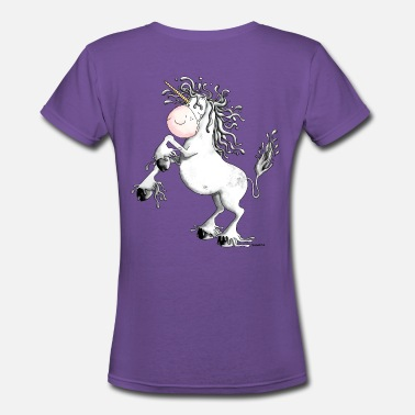 Little Hooves Funny Unicorn - Women's V-Neck T-Shirt