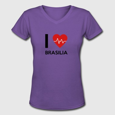 I Love Brasilia - Women's V-Neck T-Shirt