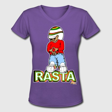 rasta - Women's V-Neck T-Shirt