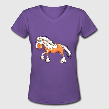 Sweet Pinto - Horse - Horses - Women's V-Neck T-Shirt