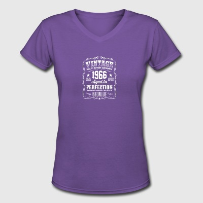 Vintage 1966 Aged to Perfection T-Shirt - Women's V-Neck T-Shirt