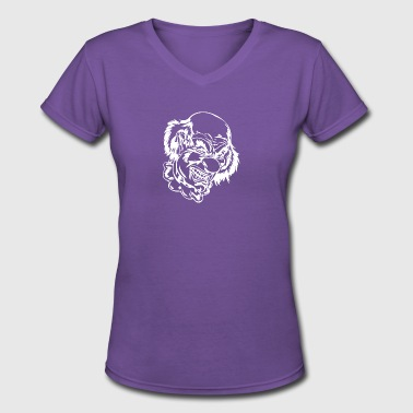 EVIL_CLOWN_23_white - Women's V-Neck T-Shirt