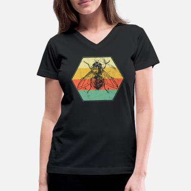 Fly Insect Fly insect vermin - Women's V-Neck T-Shirt