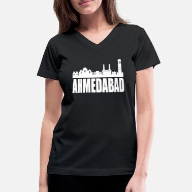 Hyderabad Ahmedabad Hyderabad India - Women's V-Neck T-Shirt