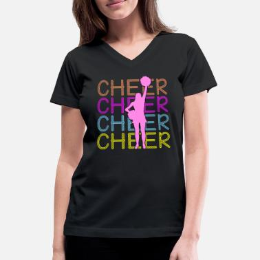 Cheering Cheerleading - Cheer Cheer Cheer - Women's V-Neck T-Shirt