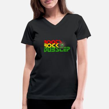 Grime ROOTS ROCK DUBSTEP,Two Step,Dub,Reggae - Women's V-Neck T-Shirt