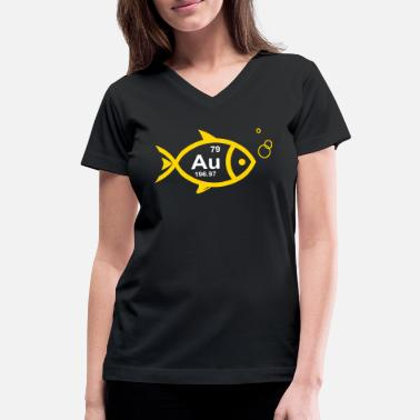 GoldFish Au Logo - Women's V-Neck T-Shirt