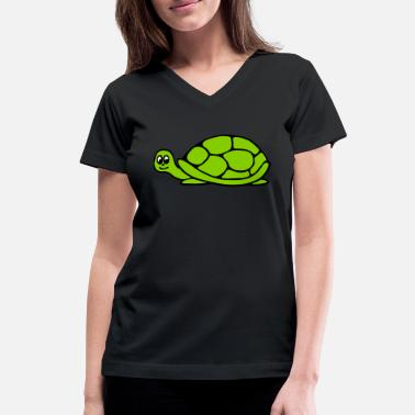 Sumu Lee Turtle - Women's V-Neck T-Shirt