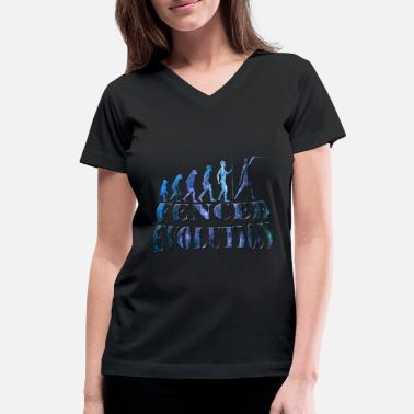 Be Fencing Fencing - Women's V-Neck T-Shirt