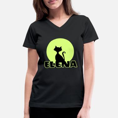 Name Day Elena Name day first name personal gift moonlight - Women's V-Neck T-Shirt