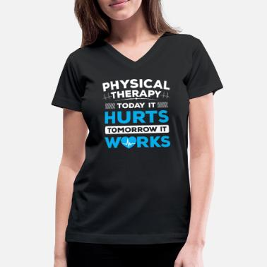 Therapy Physio Physical Therapy/Physiotherapist/Physio/Therapist - Women's V-Neck T-Shirt