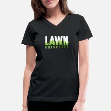 Lawn Mower Racing Robotic Lawn mower - Lawn Whisperer, grass - Women's V-Neck T-Shirt