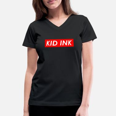 Ink Kid Ink - Women's V-Neck T-Shirt