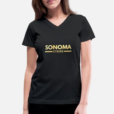 6f3b2860c Sonoma Strong Sonoma County California Strong - Women's V-Neck T