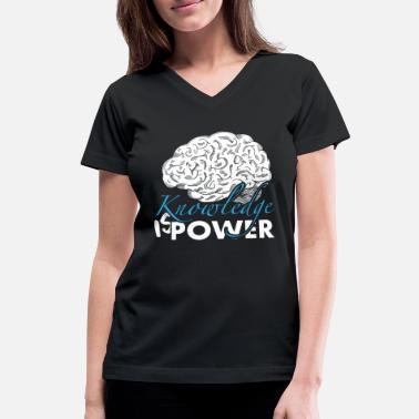 Brain Nerd Nerd brain - Women's V-Neck T-Shirt