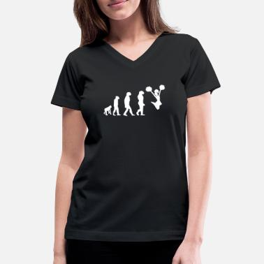Cheerleader Acrobatics Cheerleader Cheerleading Evolution Geschenk - Women's V-Neck T-Shirt