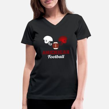 American Football AMERICAN FOOTBALL - Women's V-Neck T-Shirt