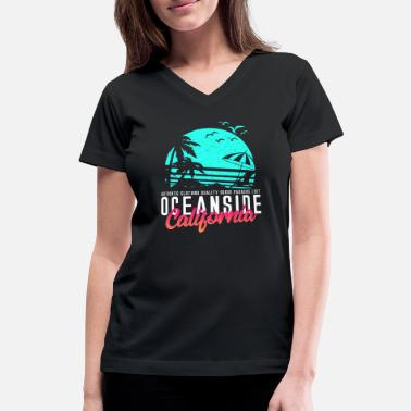 Oceanside Oceanside California Beach - Women's V-Neck T-Shirt